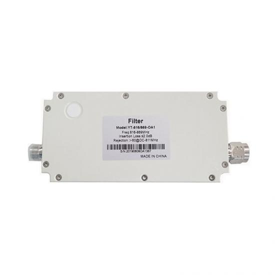 Frequency 816-869MHz 150W RF Cavity Filter