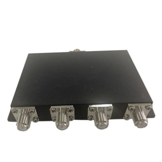 F-female 698-2700 MHz 4 Way Power Splitter